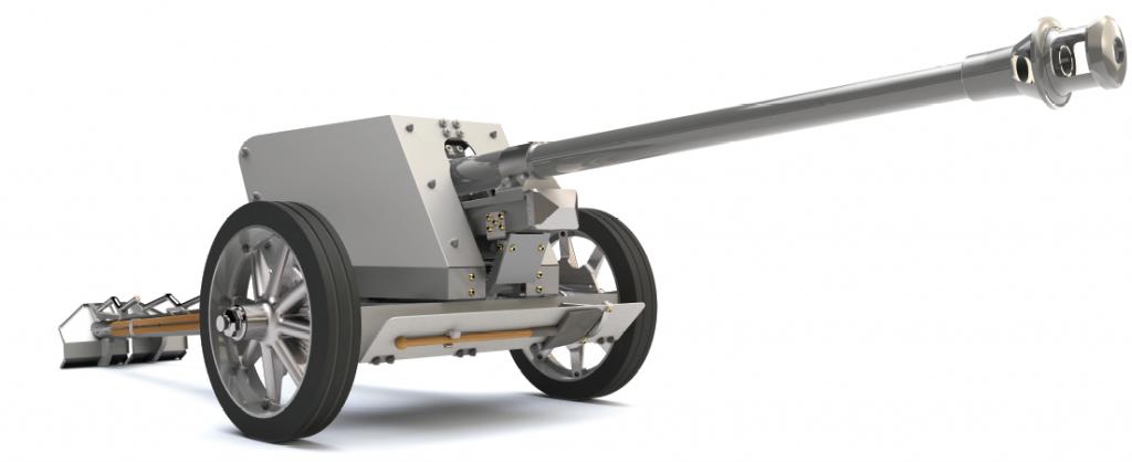 German 50 Mm Anti Tank Gun: Pak 40 German Anti Tank Gun