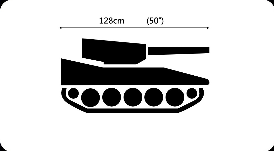 Armortek Elefant tank kit dimensions