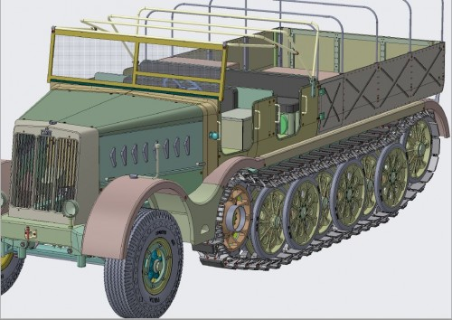 FAMO (sd kfz 9) STAGE X4.7 DESIGN